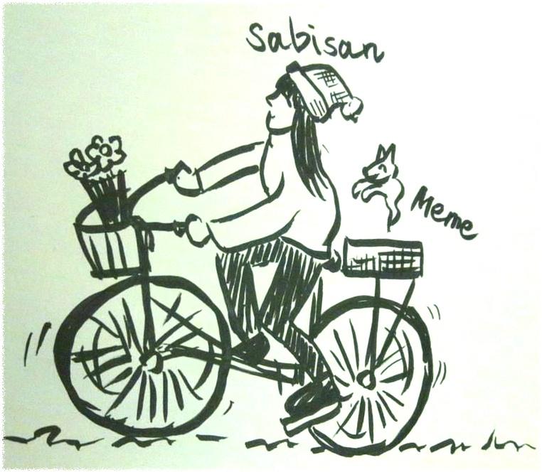 メメ君とサイクリング!