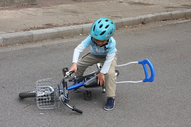かずと散歩 自転車練習
