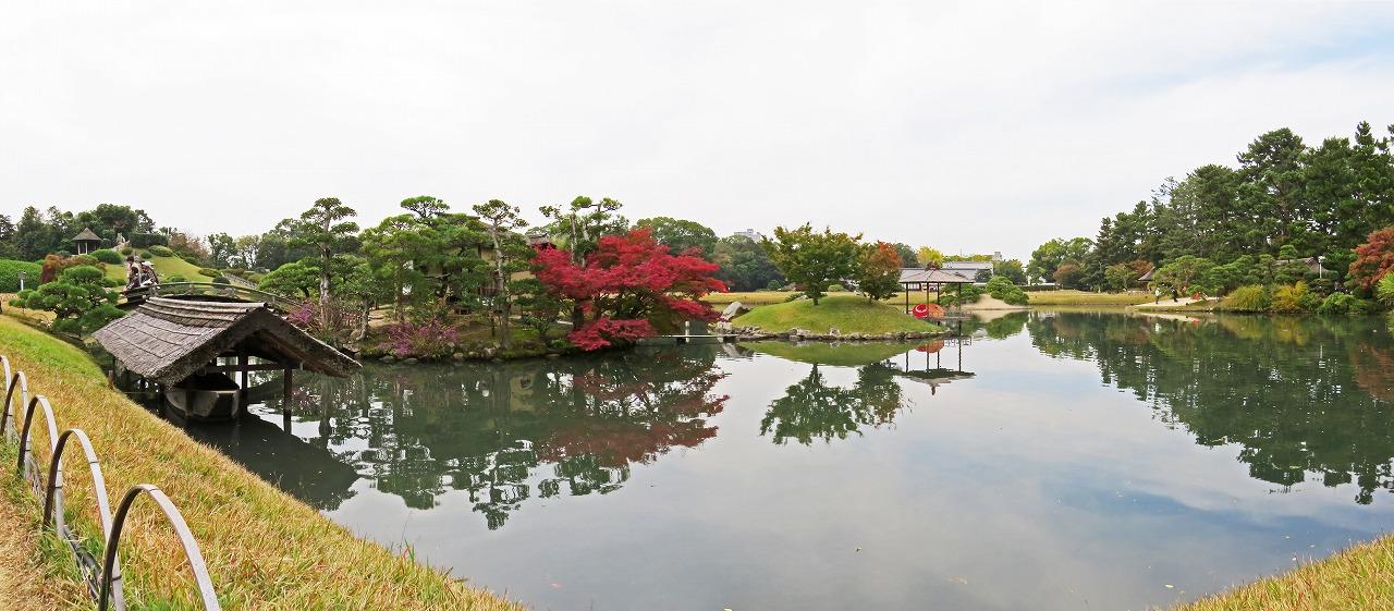 s-20141112 後楽園今日の園内沢の池ワイド風景 (1)