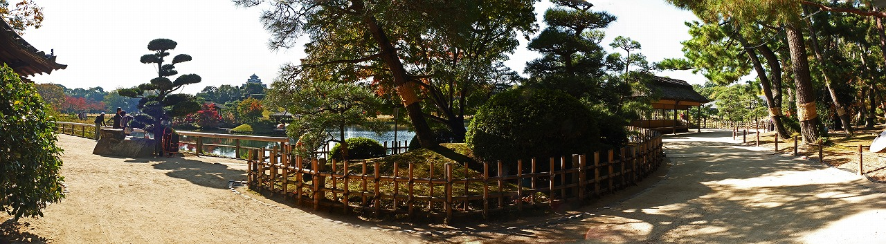 s-20141115 後楽園今日の園内変った場所からのワイド風景 (1)