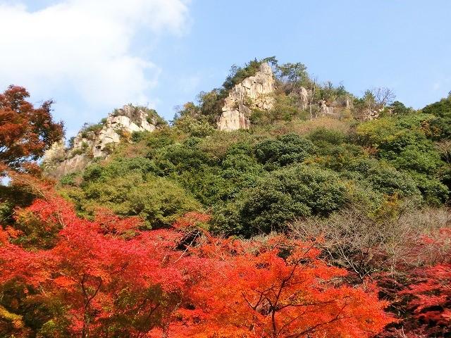 豪渓の紅葉1