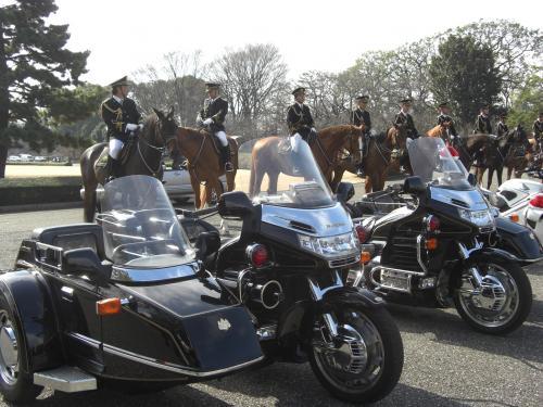 皇宮警察 騎馬隊&護衛車サイドカー