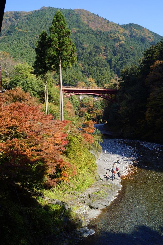 奥多摩氷川小橋から昭和橋を望む20131117A