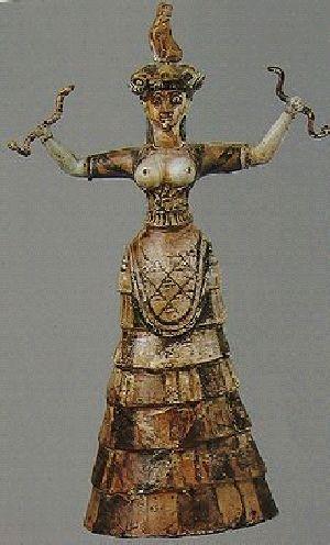 クレタ島の巫女と蛇