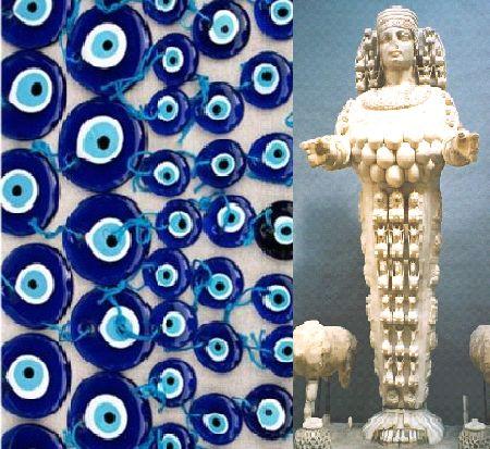 アルテミス像と「眼」の護符