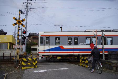 関東鉄道竜ヶ崎線 キハ2000&踏切