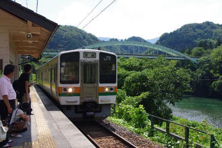 飯田線 唐笠駅 213系