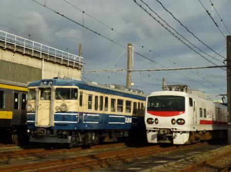 E491系&115系訓練車
