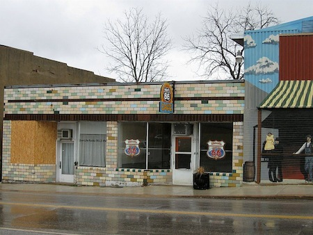 Closed Route 66 Cafe