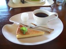 ケーキセット コーヒー+チーズケーキ(シンプル)