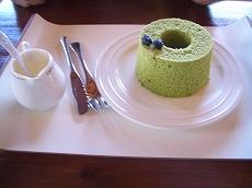 ケーキセット コーヒー+シフォンケーキ(抹茶)