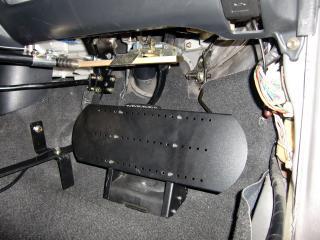 トヨタbB 福祉車両改造 ペダル干渉防止プレート 20111004
