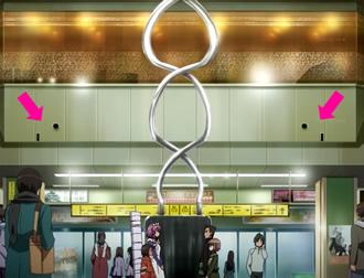 灼眼のシャナIII 第8話 『開戦』 御崎市駅構内