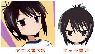 Aチャンネル 第3話 / 設定資料