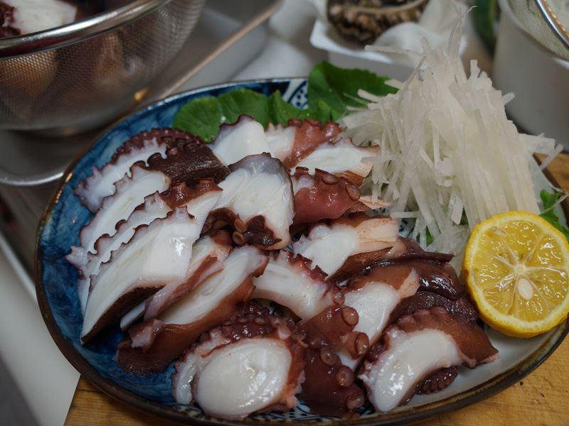 茹蛸の刺身