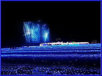 大阪城イルミ1