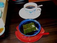 3/1 デザート 抹茶わらびもちとコーヒー