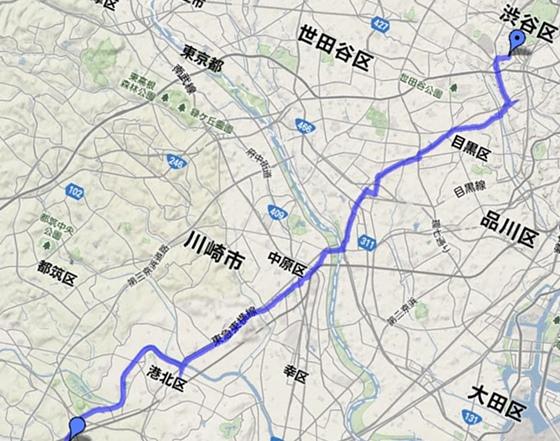 渋谷-自宅