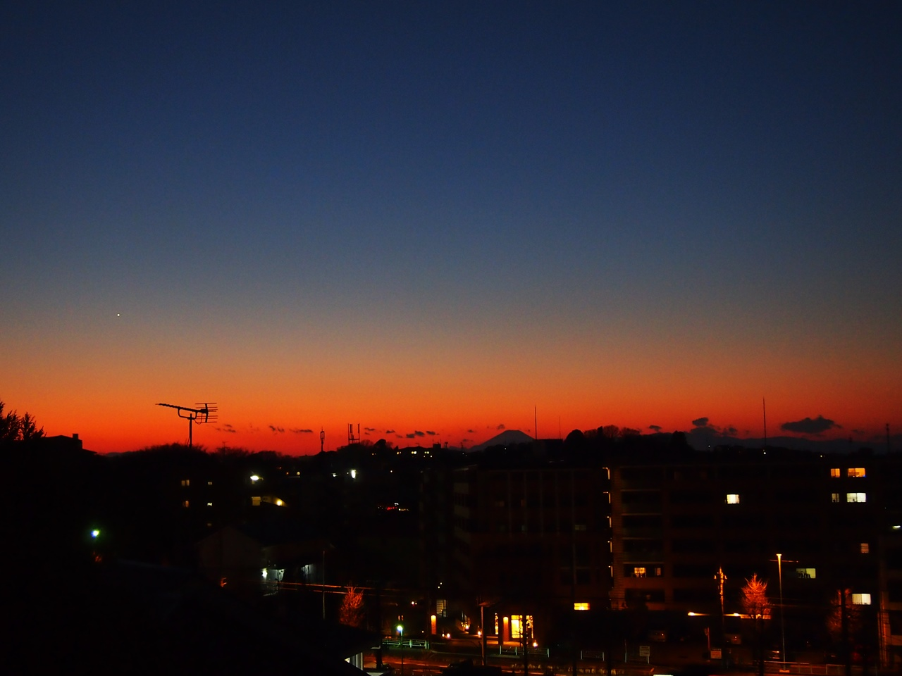 元旦の夕焼け富士