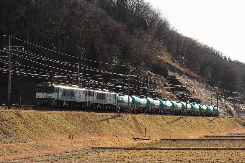 列車を待つもただ辛い・・・冬の空
