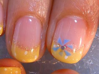 黄フレンチ三角花2