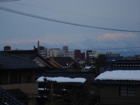夕方の剣岳