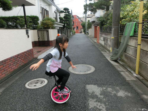 一輪車練習2