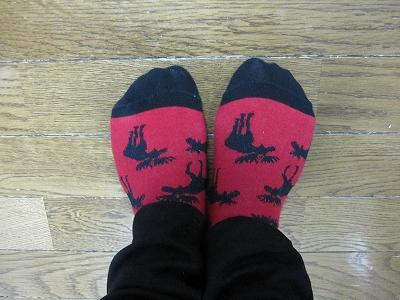 トナカイ靴下