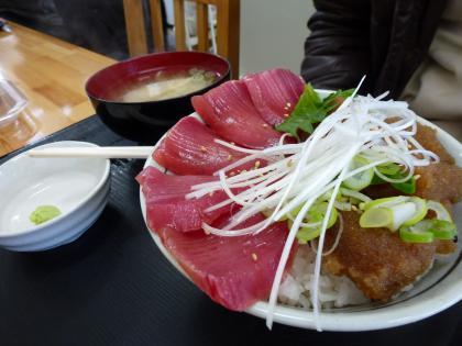 マグロ赤み&真鱈子丼