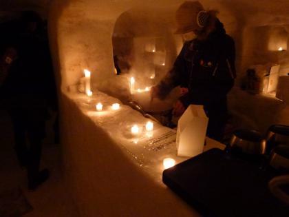 雪旅籠の灯