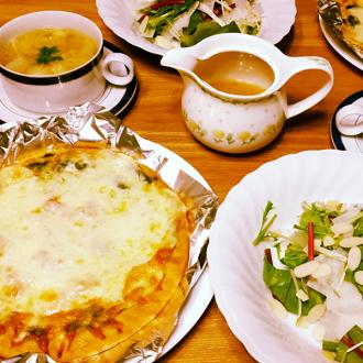 ピザとお野菜