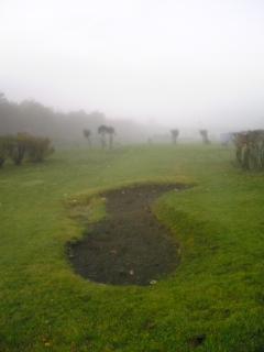 朝霧のバンカー