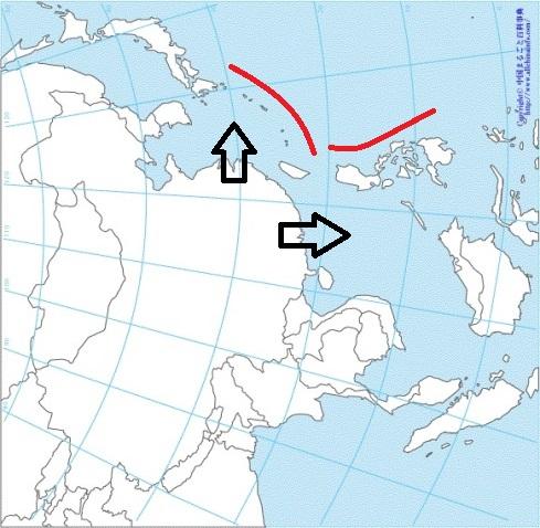 中国から見た 地図