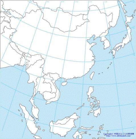 東アジア 地図
