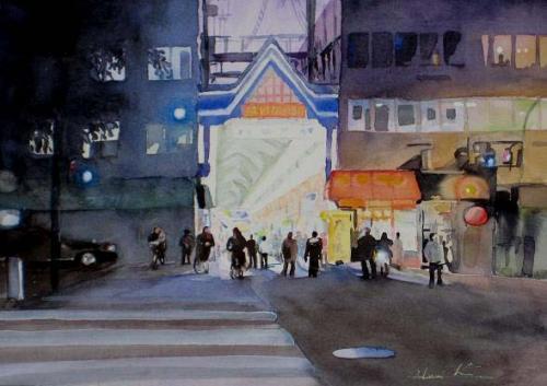 空堀商店街夜景