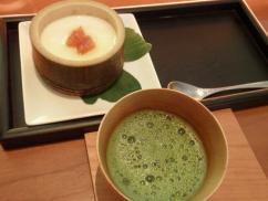 和cafe茶酒 杏の峰岡豆腐とランチの抹茶
