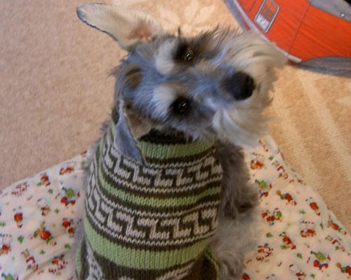 かなと手編みセーター