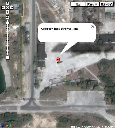 Map of Chernobyl Nuclear Power Plant