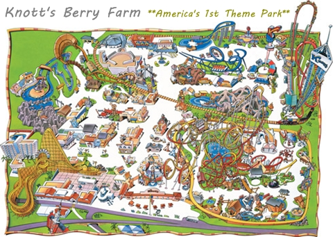 Knotts Berry Farm map