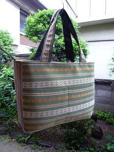 博多帯のトートバッグ