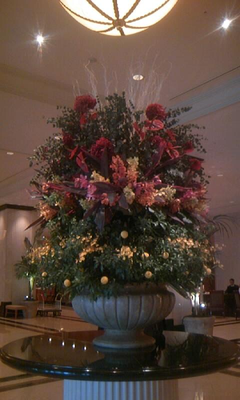 110307_170730マリオットホテルの花