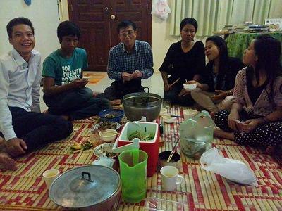 礼子さんの家での食事会