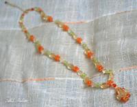 シトリンのオレンジカラーネックレス1