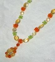 シトリンのオレンジカラーネックレス2