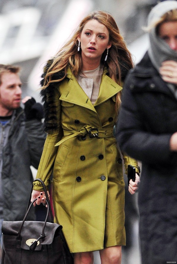 Blake Lively on the Set of Gossip Girl