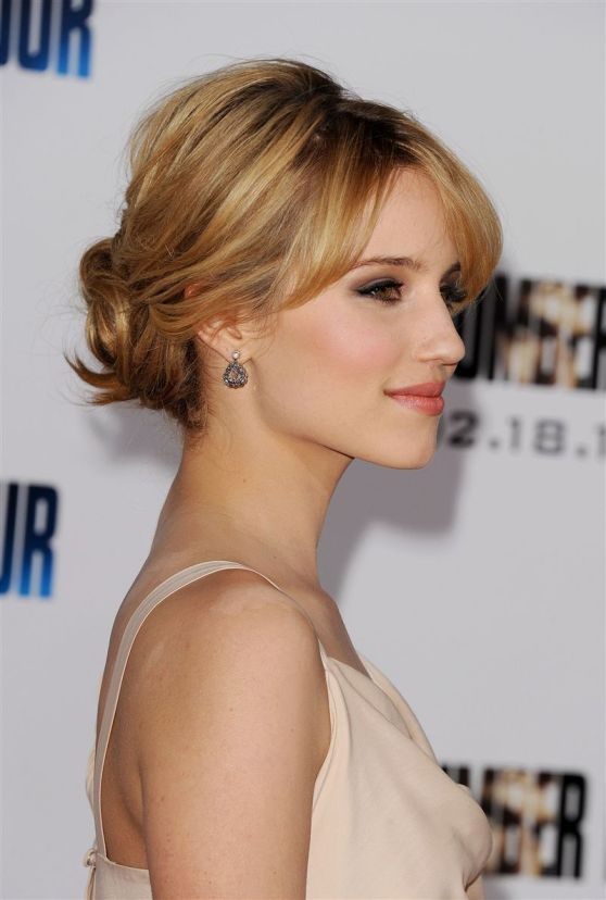 Dianna Agron attend the L.A premiere of I Am Number Four