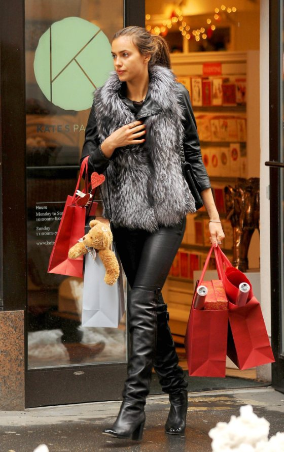 Irina Shayk Out for shopping in New York