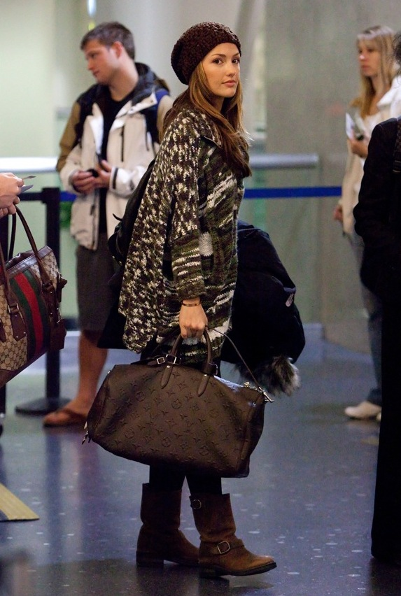 Minka Kelly at LAX Airport - February 1, 2011