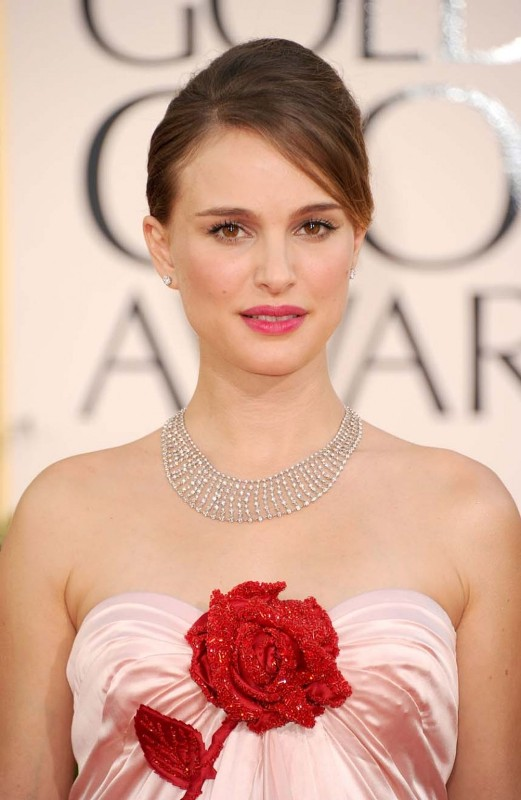 Natalie Portman attends the 68th Annual Golden Globe Awards