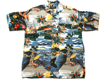 【Caribbean BLUES】アロハシャツ(0192)